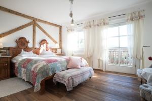 Eltern Kammer Schlafzimmer mit Balkon-Landwohnung Leitenmüller