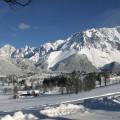 Winterlandschaft mit Dachstein Blick-Bio Bauernhof Leitenmüller