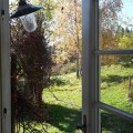 Blick in den Garten-Bio Bauernhof Leitenmüller